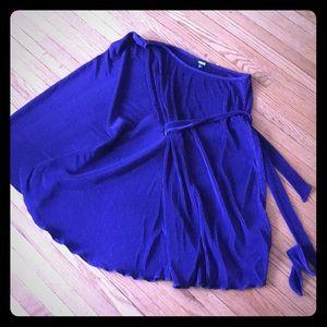 Purple one sleeve party dress